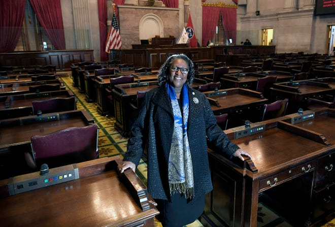 """State Rep. Karen Camper is the first African-American leader of the Tennessee House Democratic caucus. """"I'm proud of the historical significance,"""" she said of her new role."""