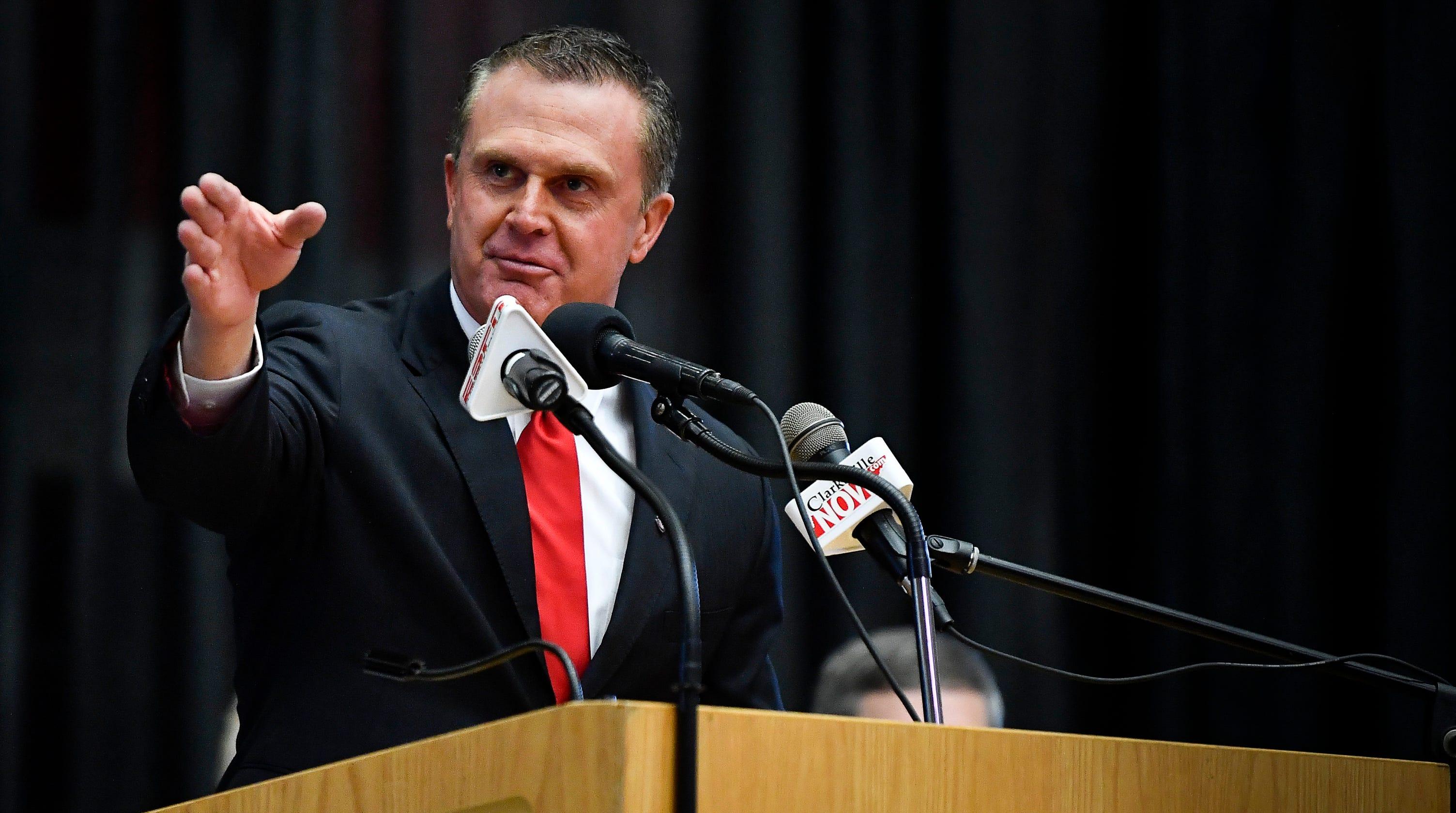 PHOTOS: APSU introduces new football coach, Mark Hudspeth ...