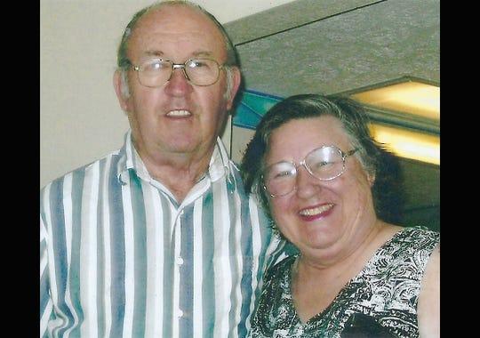 Charlene Varden with her late husband Euell Varden.