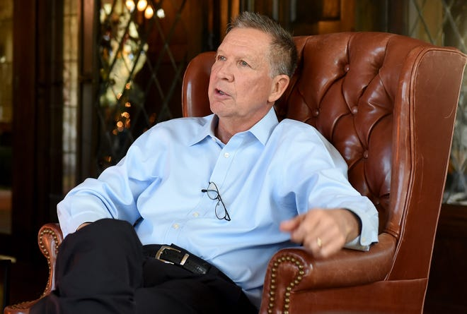 Ohio Gov. John Kasich looks back on his tumultuous, confounding, inspiring, and frustrating eight years as the state's leader from the Ohio Governor's Residence and Heritage Garden in Bexley.