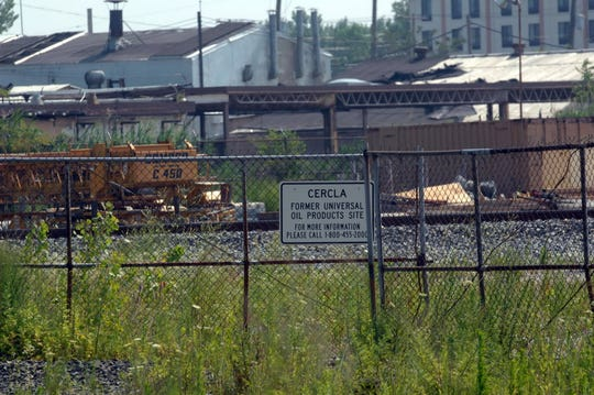 The Universal Oil Products Superfund site in 2010 on Route 17 in East Rutherford.