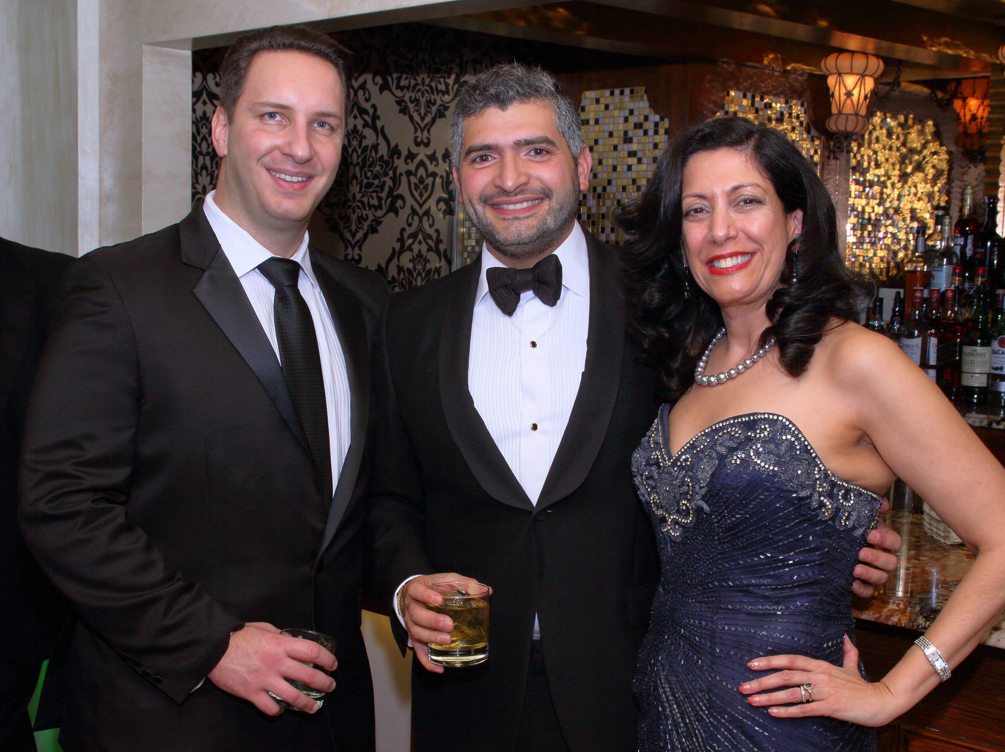 Nick Ponzini, Nima Ameri, Helena Lobo-Zagorski. The Saddle River Valley Club held its annual Holiday Gala celebration at Seasons in Washington Township. 11/30/2018
