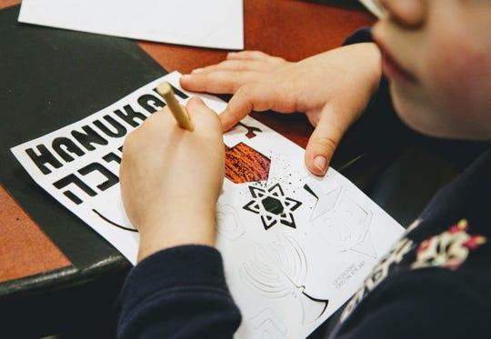 Children participated in a Hanukkah program at the Glen Rock Library Dec. 9.