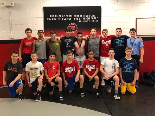 The Pequannock wrestling team spent a considerable amount of time  in  offseason training and attended the Rutgers summer camp last June.
