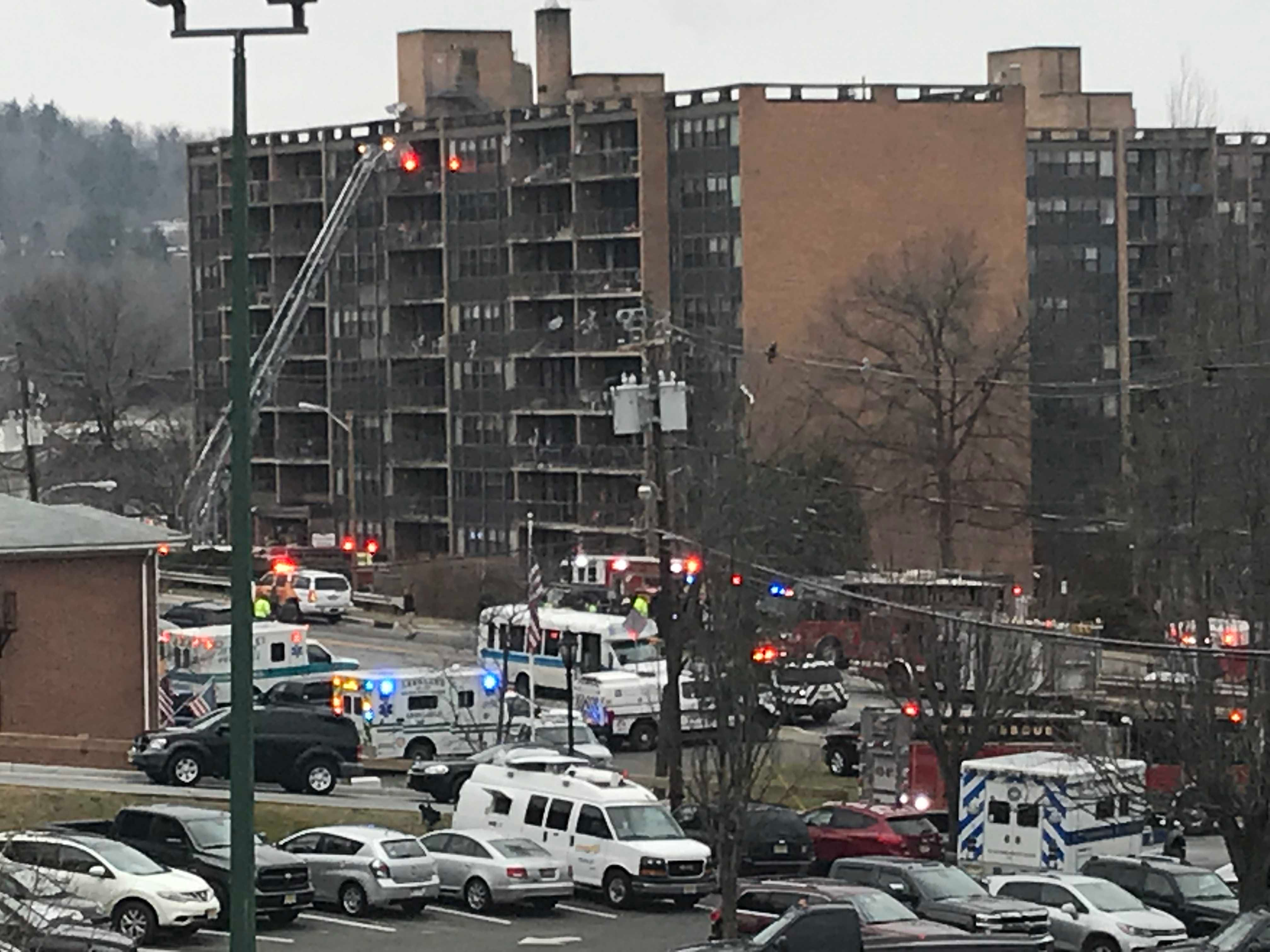 Hundreds escape high-rise apartment fire in Newton