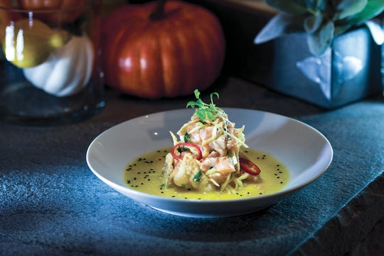 """ Wild Alaskan Coho Salmon Ceviche"" at the Hill in Closter"