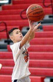 Max Allison, 9, won the boys' age 9-10 division.