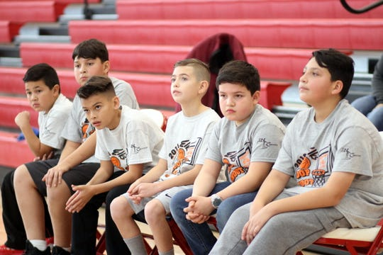 Nervous energy was evident as the contestants waited for their turn at the free throw line.
