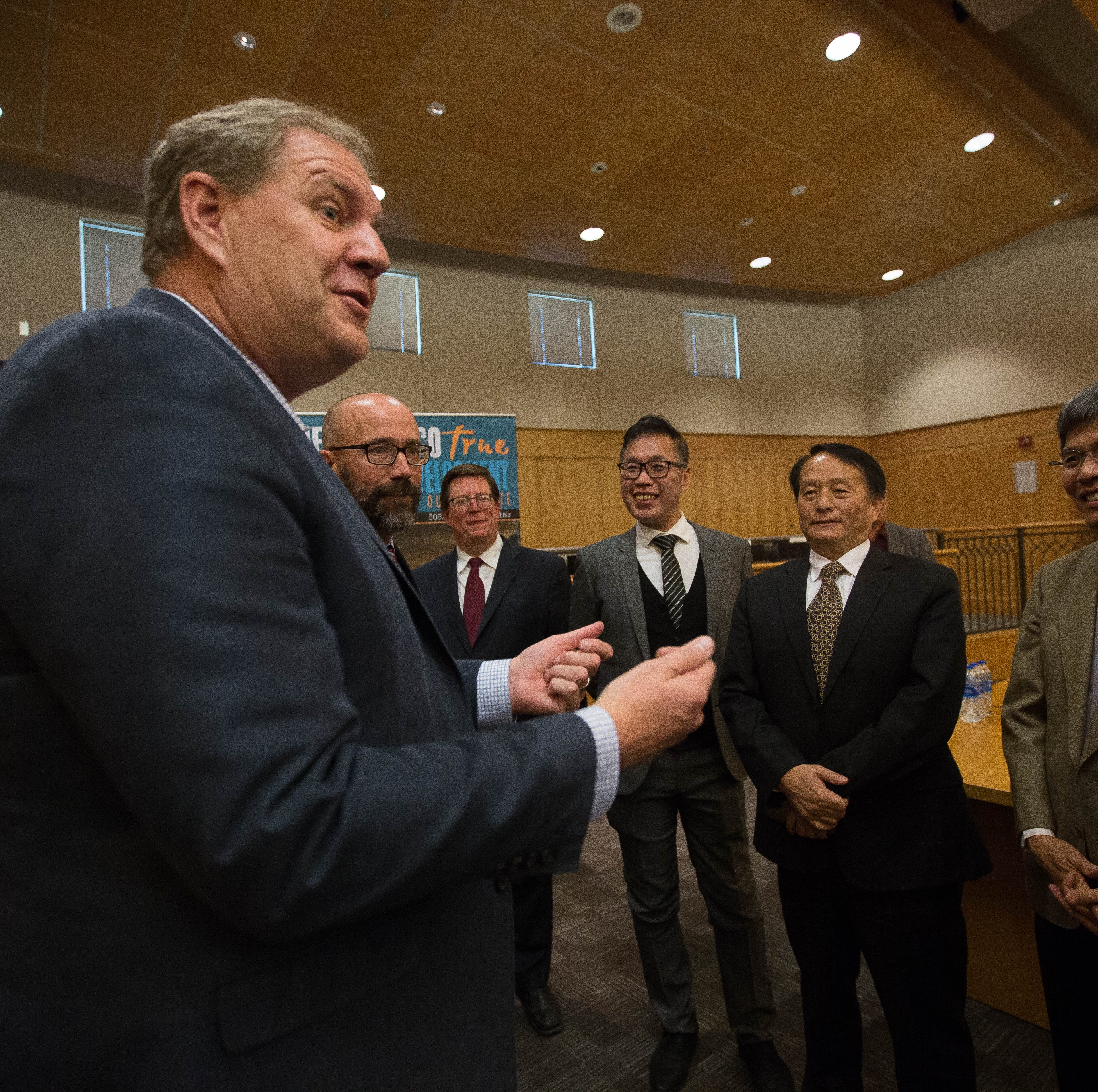 Keith Gardner Chief Of Staff For Gov Susana Martinez Left Speaks With
