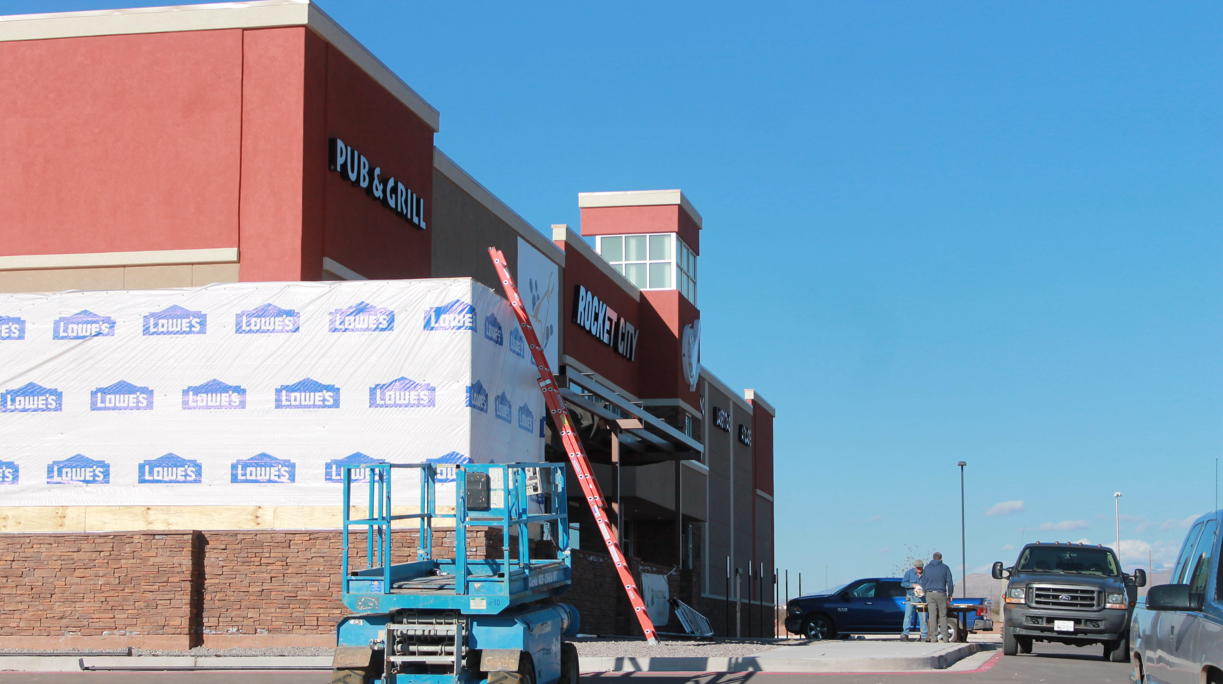 Work continues on the Rocket City Family Fun Center in order to meet the projected grand opening date of Friday, Jan. 4.