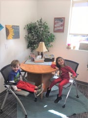 """Curt Kirkham and Frida Lewis Pantoja , Pre-K students at Sierra Vista Primary, have been chosen as this month's """"Student Spotlight"""" for being respectful, responsible and having excellent attendance."""