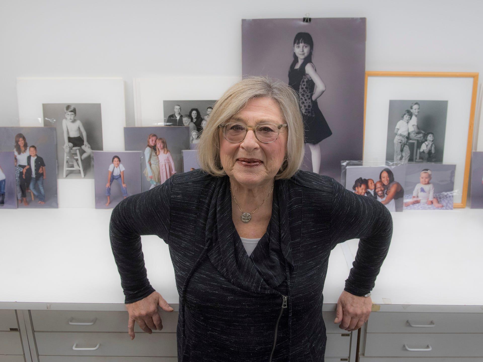Elaine Yaker, in her studio, on Old Woodward in Birmingham.