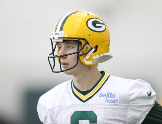 Green Bay Packers punter J.K. Scott (6) during practice Wednesday, December 12, 2018 in the Don Hutson Center in Ashwaubenon, Wis.