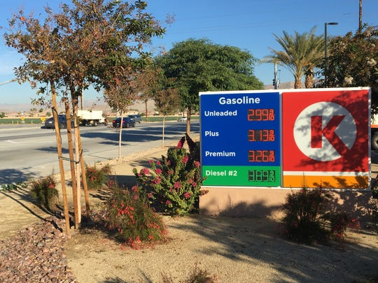A Circle K at Monroe Street and Avenue 42 charges $2.99 per gallon of regular unleaded fuel. Gas prices across the Coachella Valley have been dropping.