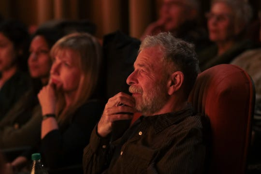 Jeff Zorn listens to speakers at the Coachella Valley Storytellers Project, December 11, 2018.