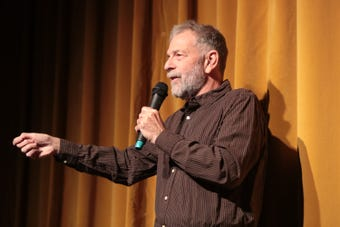 Jeff Zorn speaks at the Coachella Valley Storytellers Project