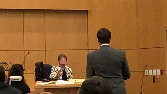 James Greenwood's mother, Bernie Jones, testified on Wednesday that she was scared of her late husband, Al Jones. She said she had filed for a restraining order on the morning of Nov. 21, 2014, the same day her son, James Greenwood, shot and killed Jones in what he said was self-defense.