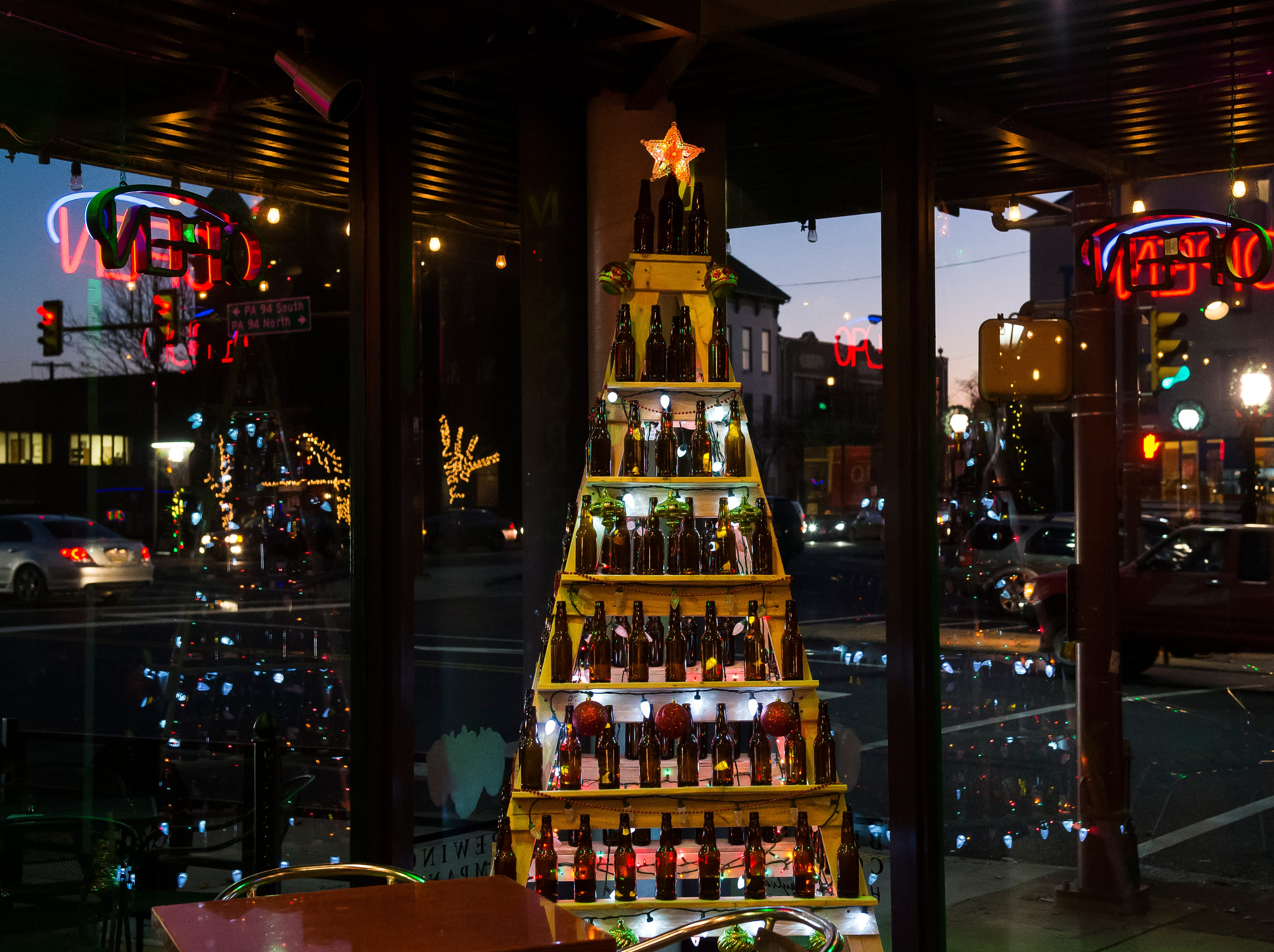 Miscreation Brewing Co. located at 6 Center Square. Visit mainstreethanover.org for details about Christmas Tree Wars.