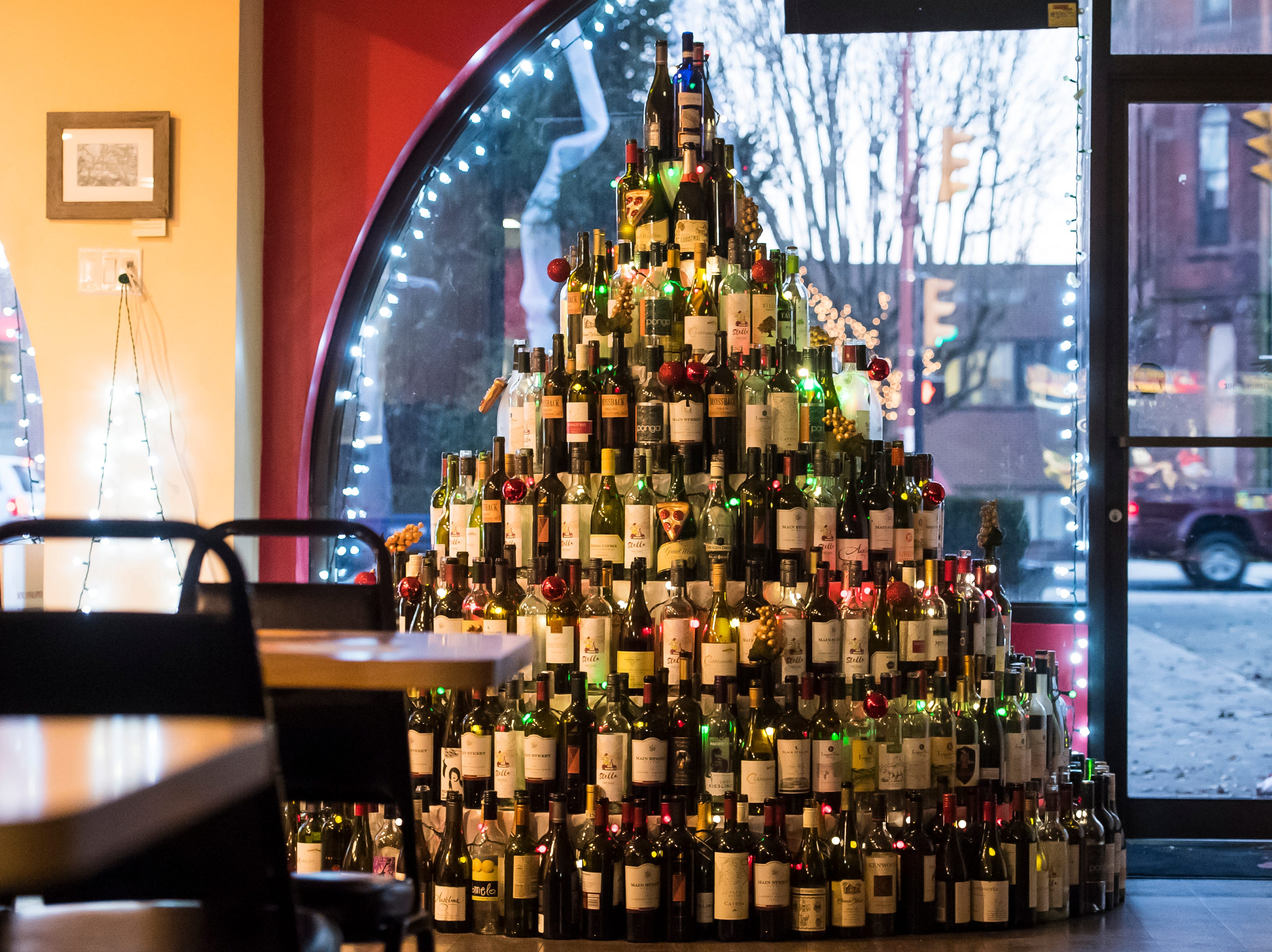 Divino Pizzeria & Grille located at 1 Center Square. Visit mainstreethanover.org for details about Christmas Tree Wars.