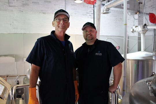 Co-owners Steve Stone (left) and Shawn Shepard (right) of Helluva Brewing Company in Chandler.