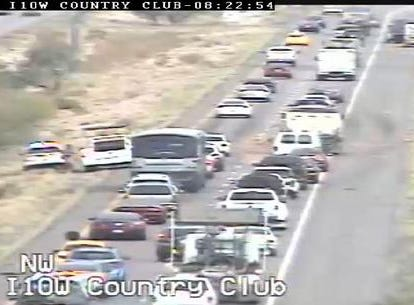 """Lettuce share this with you: A lettuce spill is slowing I-10 WB past Palo Verde in #Tucson. Cleanup on lanes 1 & 2!"" ADOT tweeted in 2014."