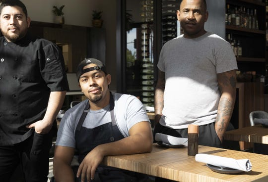 Fellow Osteria staff (L to R): Chef Jose Baeza, Andy Delgado and Ben Hill.