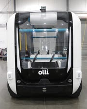 "Local Motors' ""Olli"" is an eight-passenger driverless vehicle."