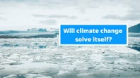 Will climate change solve itself?