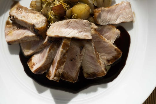 Niman Ranch pork with cabbage, apples and 9-year balsamic at Fellow Osteria.