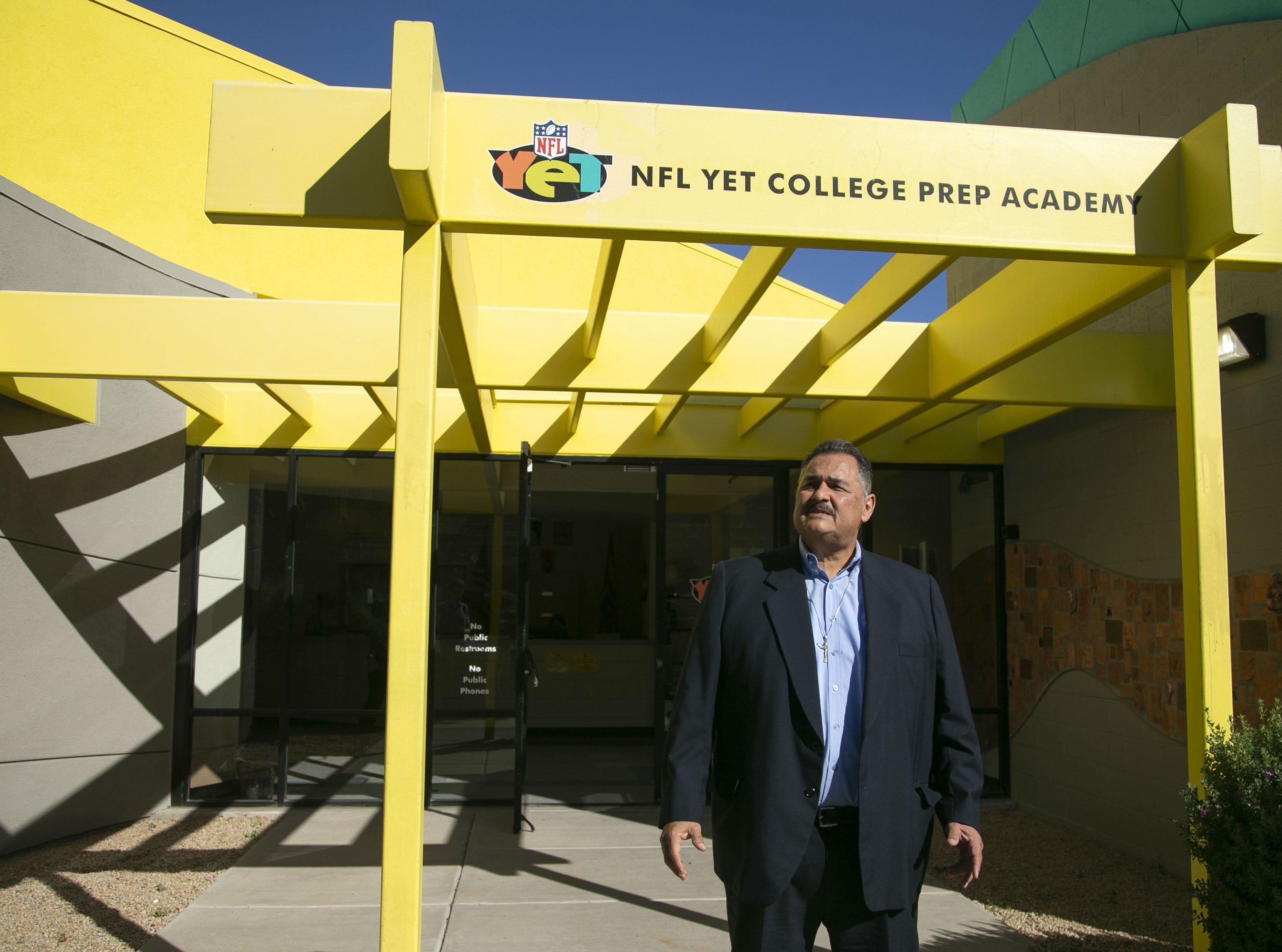 Armando Ruiz, a senior advisor with the Espiritu Community Development Corporation is seen at the NFL YET College Prep Academy on Nov. 5, 2018.  Espiritu Community Development Corporation controls severall charter schools including NFL YET College Prep Academy.