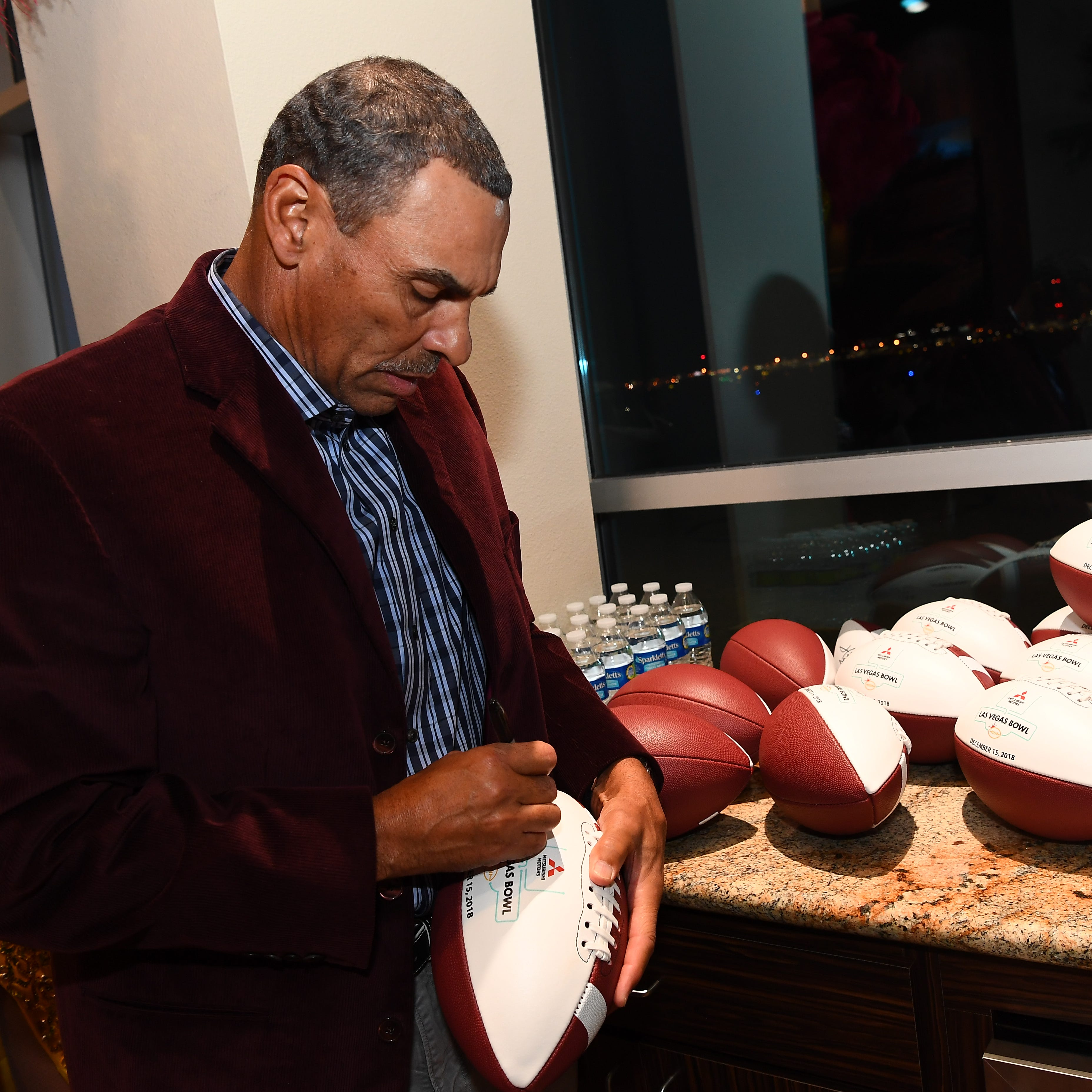 ASU coach Herm Edwards gets surprise visitor