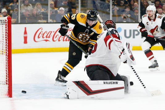 Nhl Arizona Coyotes At Boston Bruins