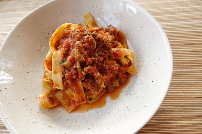House-made tagliatelle with pork and beef Bolognese at Fellow Osteria in Scottsdale.