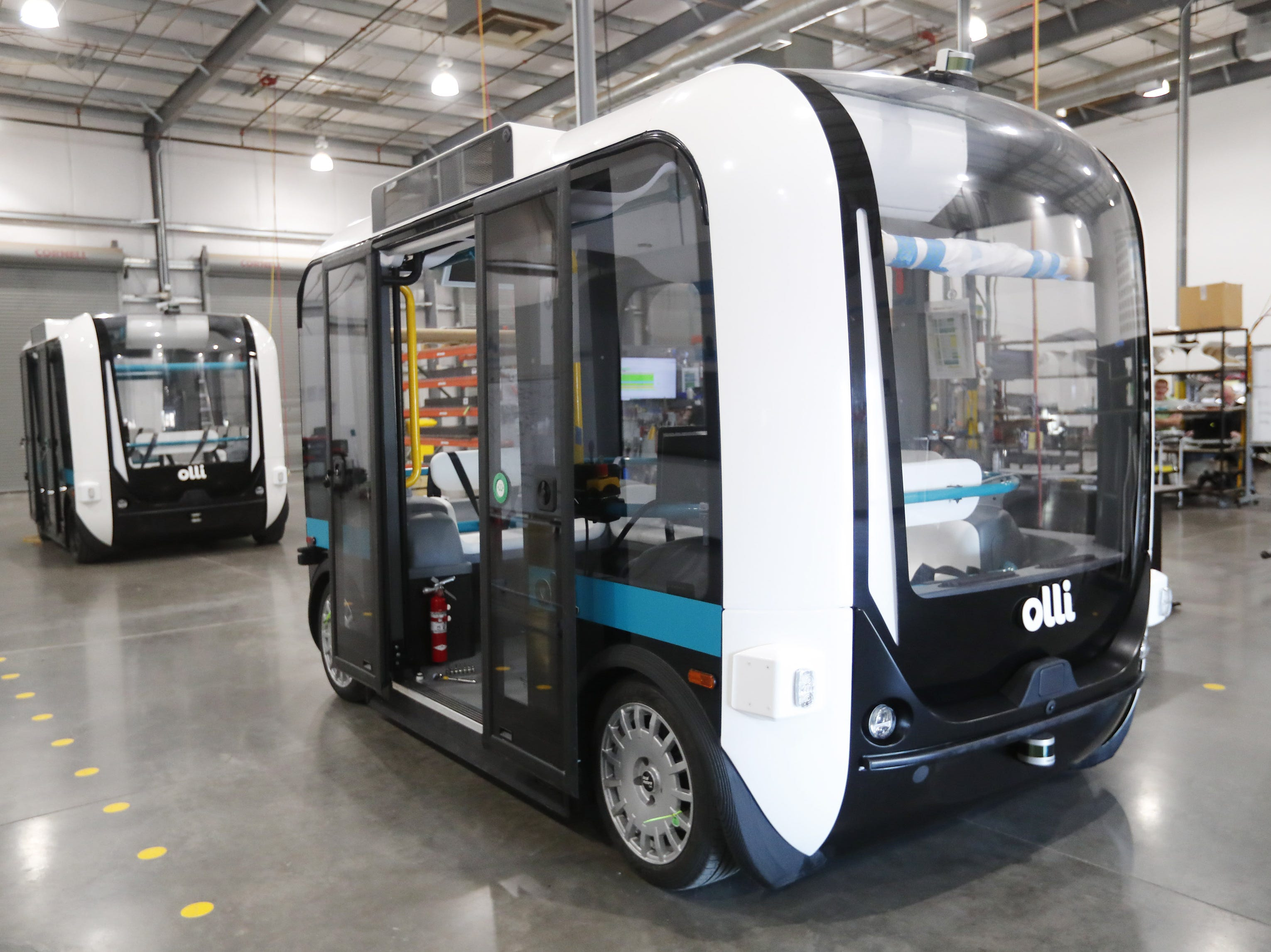 "Local Motors has developed driverless eight-passenger shuttles that they call ""Olli"" near Chandler. They are giving some away in a contest, two to EVIT."