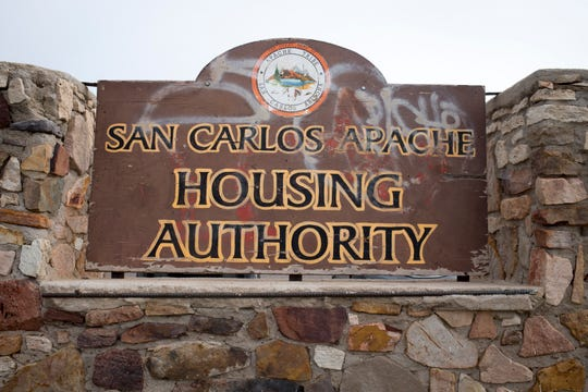 The San Carlos Apache Housing Authority headquarters as seen on Dec. 11, 2018, in Peridot.