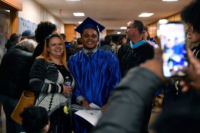 Thirty-one students from fourteen area high schools graduate from the York Adams Academy, Tuesday, December 11, 2018.