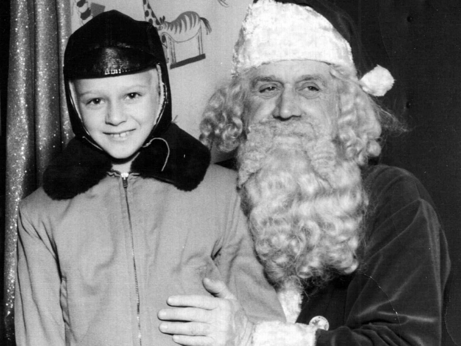 submitted  David K. Klinedinst, then 6, visits with Santa at The Bon-Ton in York in 1946. Klinedinst now lives in Springettsbury Township with his wife, Bonita L. (Dietz) Klinedinst.