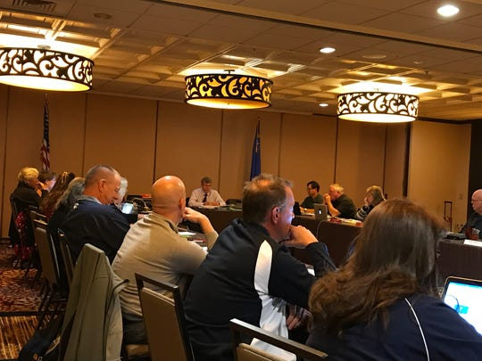 The NIAA board of control met this week at the Sparks Nugget