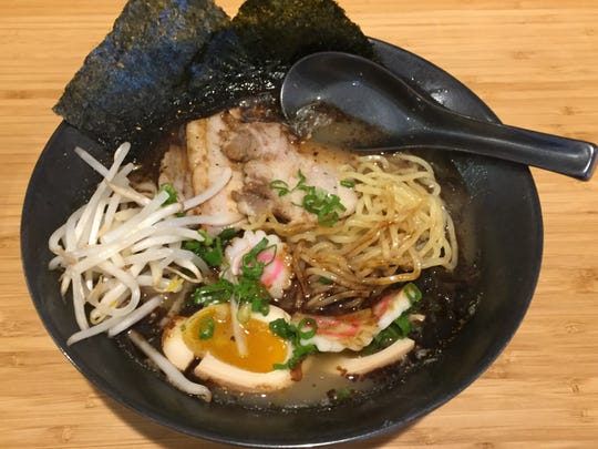 At Haru restaurant in South Reno, the kuro ramen, or black ramen, is flavored by blackened garlic oil.