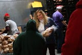 Catholic Charities of Northern Nevada St. Vincent's Food Pantry in Reno feeds needy families for the holidays.