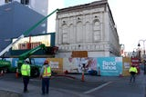 Demolition has begun on the Reno Mercantile Building, the oldest in downtown Reno, on Dec. 12, 2018.