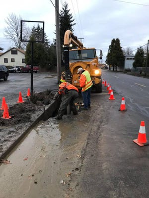 For the second day in a row, a water main break in Mt. Angel has led to service shutoffs and discolored water.