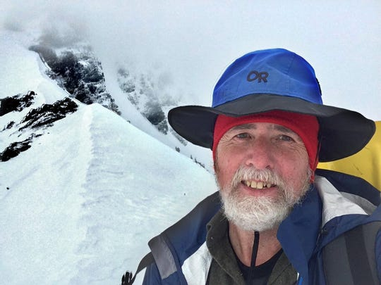 William L. Sullivan poses for a selfie at Canyon Creek Meadows Viewpoint by Three Fingered Jack in 2018.