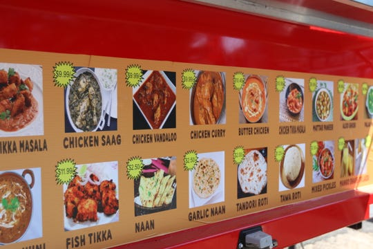 The visual menu at Little India in August 2018. The family business aims to present the most authentic Indian food in Salem.