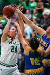 Wall's Haley Palmore is on the roster for the girls' all-star basketball game at Angelo State University on Sunday.