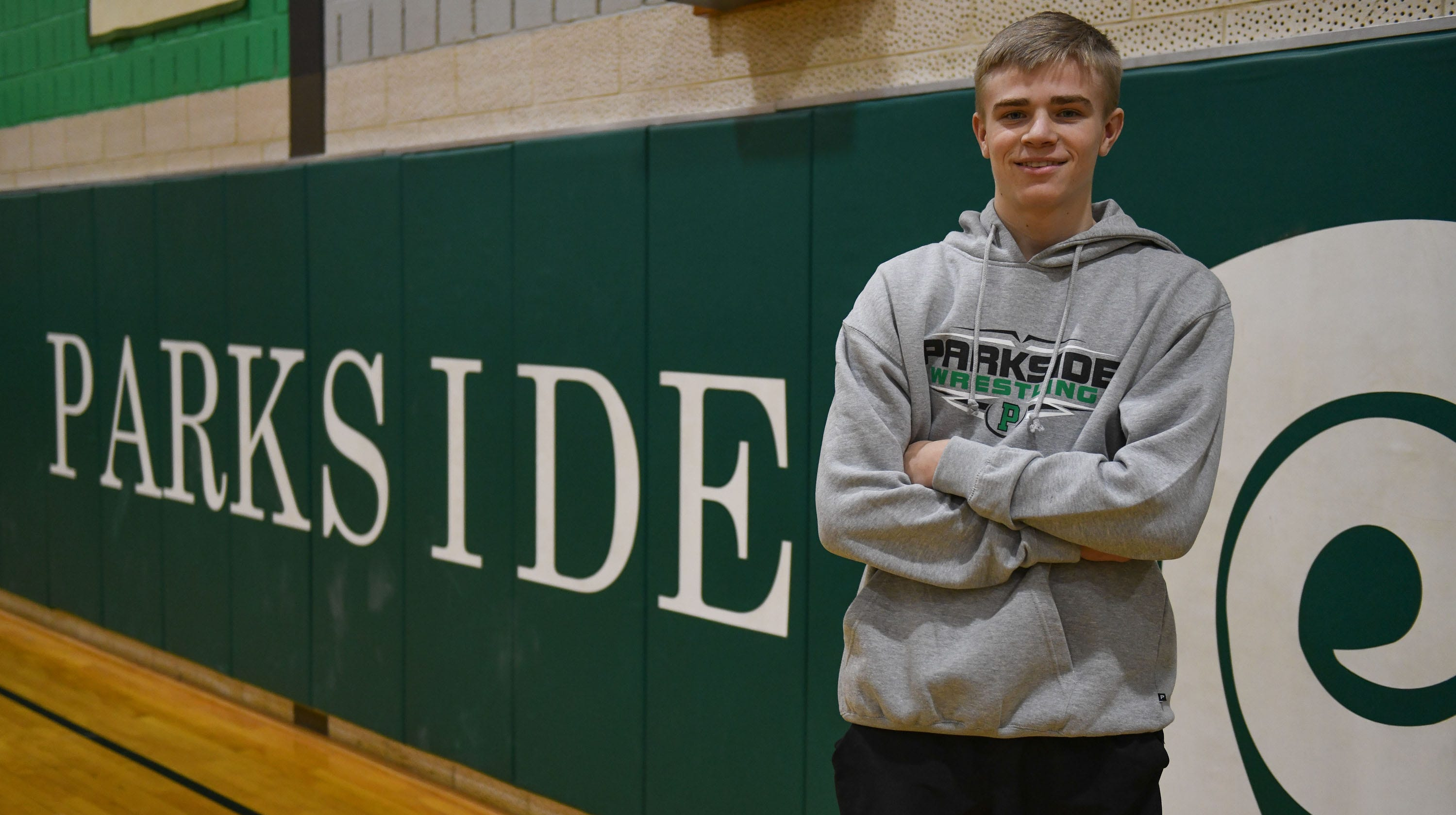 Parkside wrestler gets 100th win, looks for strong ending to high school career