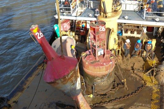 Coast Guard Cutter James Rankin Conducts Seasonal Buoy Exchanges