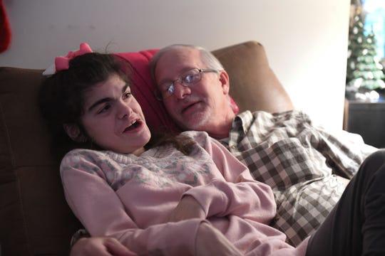 Amanda Ehrisman loves spending time with her dad Leo. Monday, Dec. 10, 2018.
