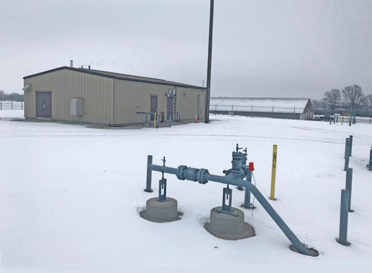 """This natural gas regulator station in Calumet County will be connected to the new natural gas main running from Chilton to Plymouth. """"A regulator station is a facility that takes natural gas from a transmission pipeline and lowers it so that it be distributed to customers who are connected to our distribution system,"""" said Matt Cullen, senior communications specialist with WEC Energy Group."""
