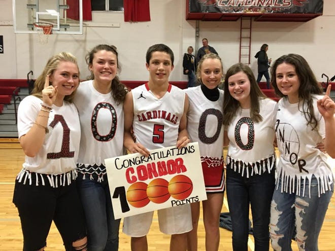 Sophomore Connor Libis scored his 1,000th career point in St. Mary's opener on Dec. 7 vs. Colman-Egan.